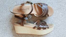Ladies leather wedges