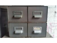 Vintage - steel drawers - set of four