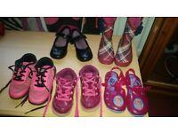 Girl's shoe selection