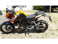 Ktm duke 125 new mot