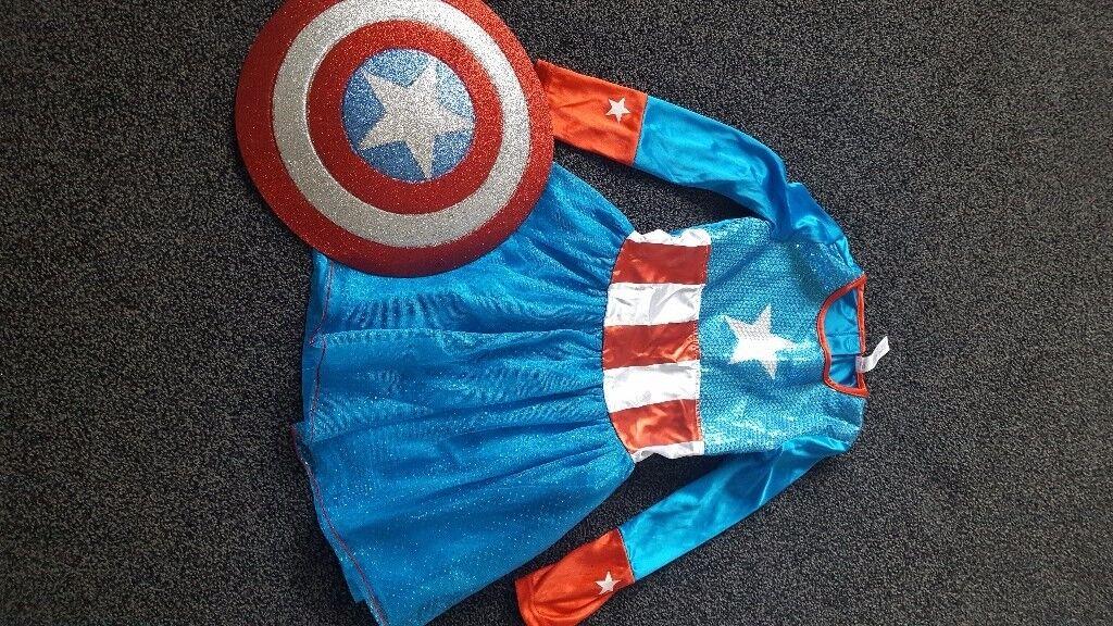 Girls captain america dress up