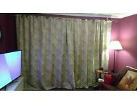90x90 lined curtains x 2 sets.