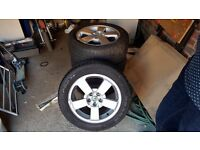 SKODA ALLOY WHEELS 5 STUD 205/55/R16 SET OF 4 WHEELS IN EXCELLENT CONDITION