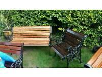 Garden bench & chair.