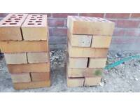 Yellow faced bricks unused