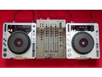 2 x PIONEER CDJ 800 (MK1 & MK2) & VESTAX PMC170A MIXER SET-UP - £400