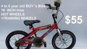 4 to 6 year old BOY 's Bike 16  INCH tires  raleight