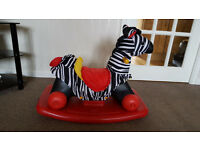 Little Tykes 2 in 1 Rock n Scoot Zebra