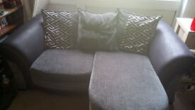 Two seater sofa with chaise lounge for sale