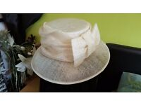 Ladies formal cream hat