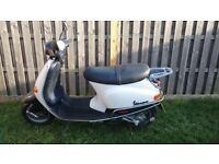 Vespa Piaggo Blue and White Moped Scooter **price reduced as need the space** 750
