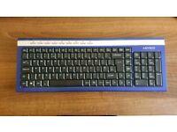 Wireless Keyboard _ Advent AKBWLBL15 _ Blue / Silver _ Slim _ Quiet Typing