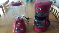 RED---Hamilton Beach coffee maker and blender
