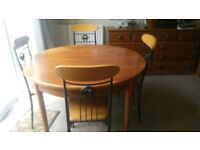 Dining table and 4 chairs for sale