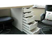 ikea desk for sale 5 drawers, can be positioned to right or left side .Excellent condition £30.00