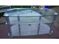 Glass tv unit in good condition