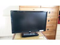 """Logic 24"""" tv with built in dvd"""