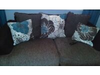2&3 seater sofa .teal ang greyl black.very co.fortable wear and tear .