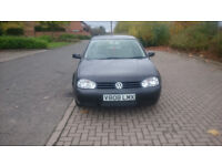 1999 GOLF 1.6 AUTOMATIC CLIMATE CONTROL, E/SUNROOF EXCELLENT RUNNER, MOT: 18/10/2018. MILEAGE: 75604