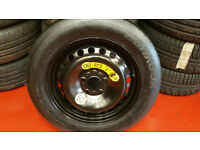 "FORD FOCUS C MAX MONDEO 5 STUD 16"" SPACE SAVER SPARE WHEEL T125 90 16 tyre Hankook NEW"