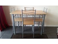 Lovely 5 piece dining table and 4 chairs kitchen breakfast table