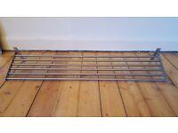 Metal wall mounted shelf