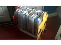 Unusual toy storage rack rail box wooden