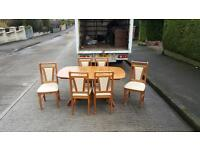Oakwood dining room table and 6 chairs £85 delivered