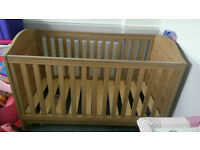 Oak Effect Cot and Drawer Changer Babies R Us