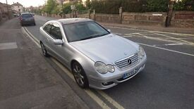 Mercedes C200 Coupe 2005 in silver *Full leather & Panoramic sunroof*