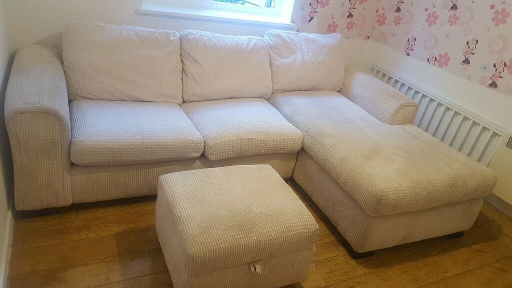 Dfs Corner Sofa Bed And Footstool In Milton Keynes