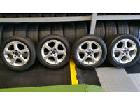 Ford Genuine 16 alloy wheels + 4 x tyre 205 55 16
