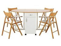 Willow Fold Table and Chairs - Two Tone