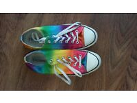 Rainbow Converse Size 8