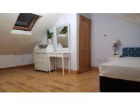 lovely clean large cosy attic double room with ensuite toilet to let