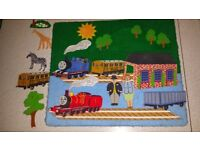 Thomas the Tank Engine big fuzzy felt board, with characters