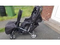 Graco Double Travel Pushchair- Used