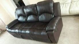 Whitfield 3 Seater Leather Reclining brown Sofa