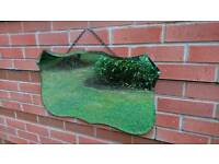 A lovely vintage retro large mirror