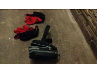 Cycling Gloves (Medium) & Cycle Tool Bag -Good Condition