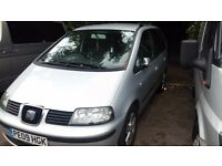 PCO SEAT ALHAMBRA 2009 7 SEATER !!!QUICK SALE!!! UBER READY- £3100