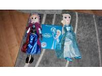 Frozen Elsa and Anna Soft Toys