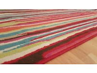Retro Funky Rug 120x160 rainbow colors