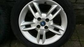 """One 15"""" inch Fiat Alloy wheel with tyre"""