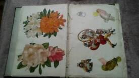 Large Victorian Scrapbook of assorted memorabelia.