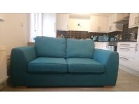 DFS 2 SEATER TEAL SOFA BED