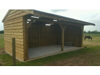24ft x 12ft , car port , double field shelter , log store , garden shed. NO VAT!