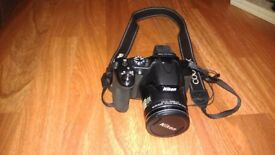 Nikon Coolpix P530 camera with Lowepro bag and memory card