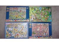4 x Jigsaw puzzles -1000 - 1500 pieces