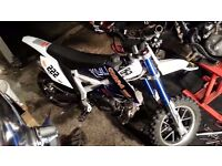 for sale 50cc 4 stroke childs off road motorbike. not a mini motor. please read ad..